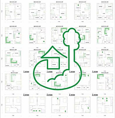 проект дома 7 х 7 м