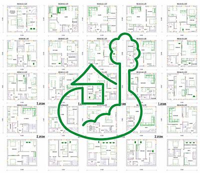 проект дома 8 х 9 м