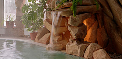 водопады на дачном участке