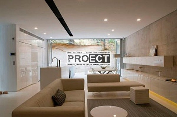 проект дома   гостиная