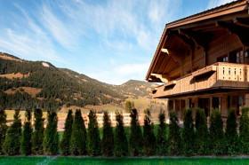 Уютное шале в Альпах с необработанным деревом в интерьере