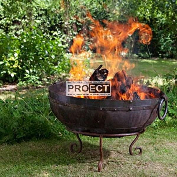 огонь в саду