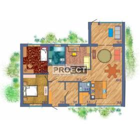 Одноэтажный жилой дом проект
