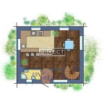 Двухэтажный  проект дома с тремя спальнями для большой семьи и маленького бюджета