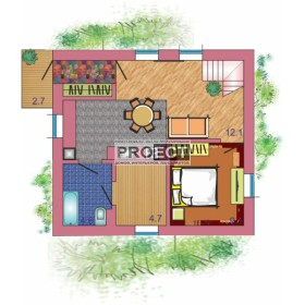 Проекты одноэтажных домов с мансардой для экономичного строительства