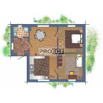 Дом в современном стиле, спроектированный в виде квадрата