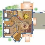 Проект одноэтажного кирпичного дома с гаражом на Вашем участке