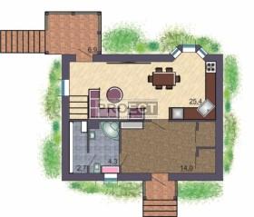Проект дома на склоне, как интересное решение Вашего дизайна