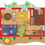 Проект постройки дома с интересной изящно — извивающейся террасой