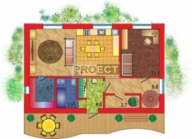 Проект постройки дома с интересной изящно— извивающейся террасой