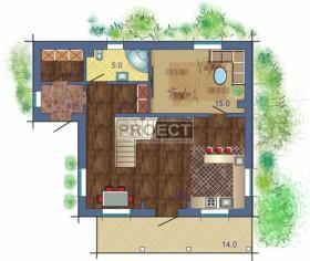 Кирпичный дом с мансардой, комфортный, уютный и небольшой по площади