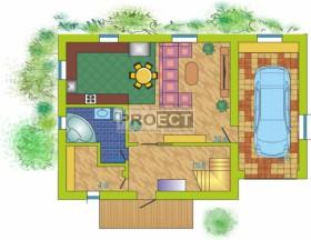 Проекты двухэтажных домов с гаражом для большой семьи