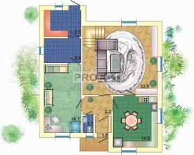 Проект дома с подвалом, приятное сочетание материалов