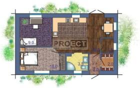 Проект одноэтажного дома с двумя спальнями, как альтернатива 3-х комнатной квартире