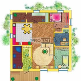 Вы давно искали проект одноэтажного дома 10×10