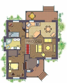 Проект индивидуального жилого дома с плоской кровлей, как рациональное решение площади