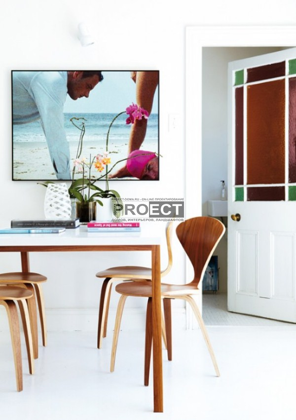современный дом | светлая столовая