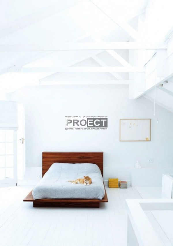дом белого цвета | белая спальня