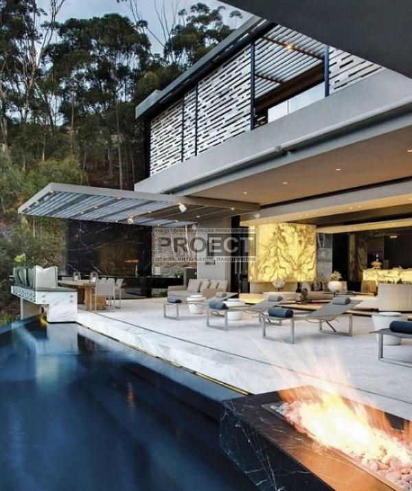 luxury-residence | роскошная резиденция | фасад дома | бассейн