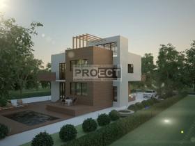 Проект частного дома, стиль минимализм, коэффициент энергосбережения R=4.5,  г. Краснодар