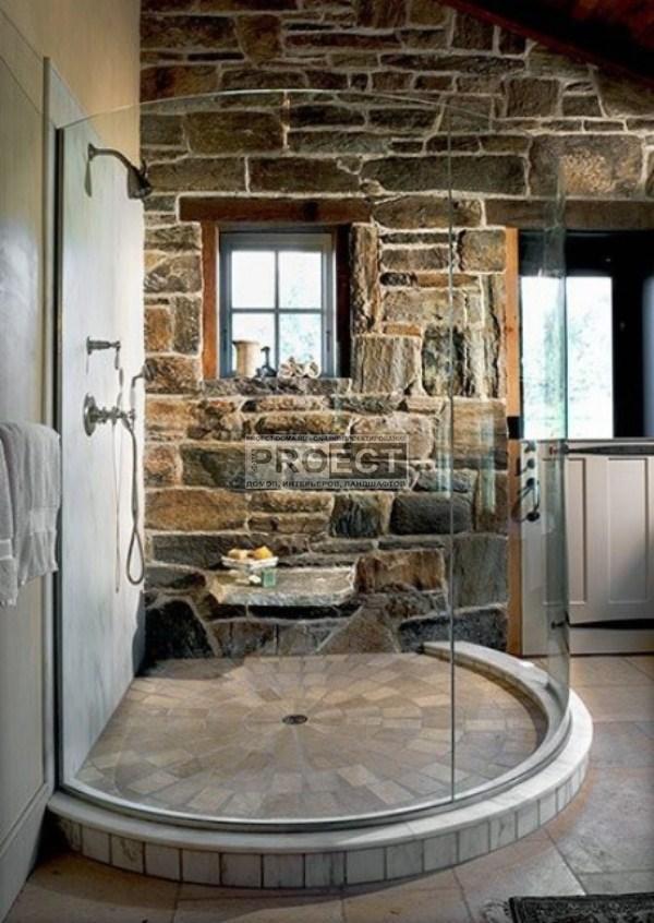 ванная комната в камне