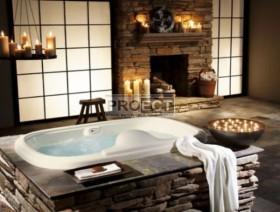 ванная комната в камне | 50 идей интерьера ванной комнаты