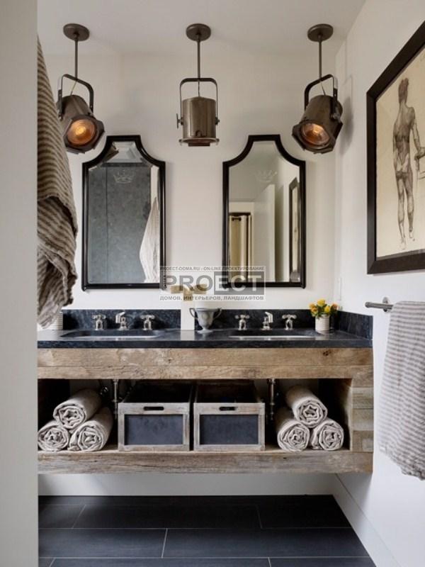 интерьер ванной комнаты для мужчин