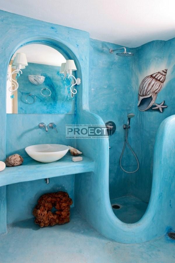 Дизайн необычный ванных комнат