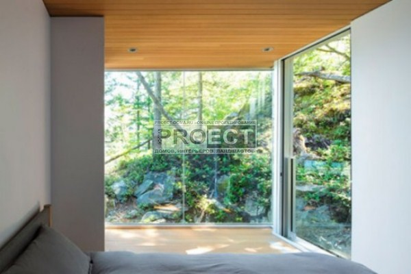 современный домик в лесу